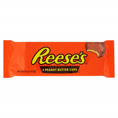 Reeses 3 Peanut Butter Cups 51 g